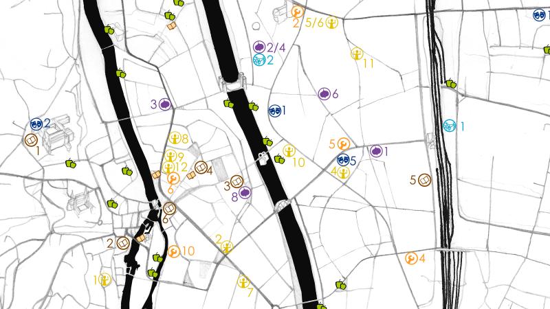 Simple Karte von Bamberg